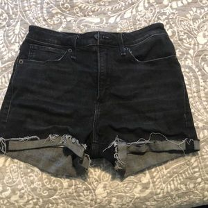 abercrombie & fitch simone high rise shorts